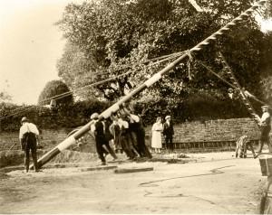 9 raising the pole